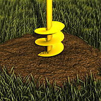 Use a posthole auger to dig your holes