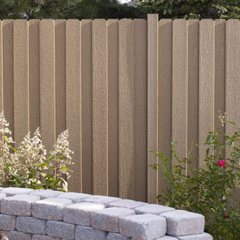 Fence panels made of composite