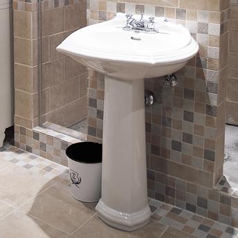 Bathroom Sinks Rona install a pedestal lavatory sink - {1} | rona
