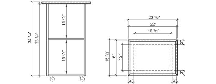 Construire une desserte plans de construction rona for Fabriquer une desserte