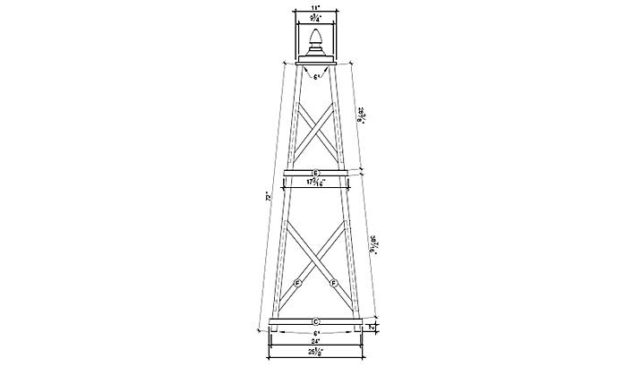 Wood Obelisk Trellis Plans