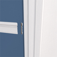 A return is a small piece of trim, often triangular, that ends a moulding.
