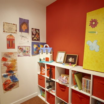 Playrooms are more prone to drywall holes