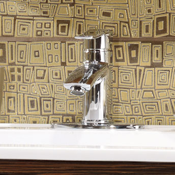 Single-handle countertop vanity faucet