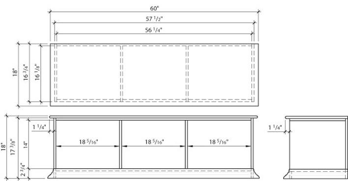 construire un banc de rangement plans de construction rona. Black Bedroom Furniture Sets. Home Design Ideas