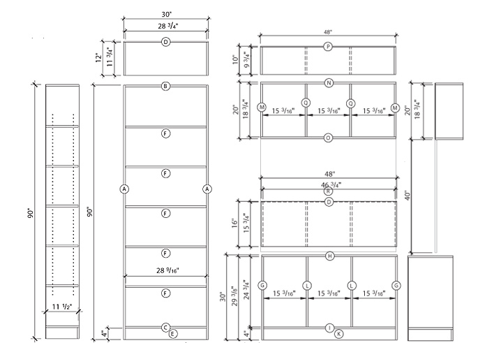 mdf bookcase plans