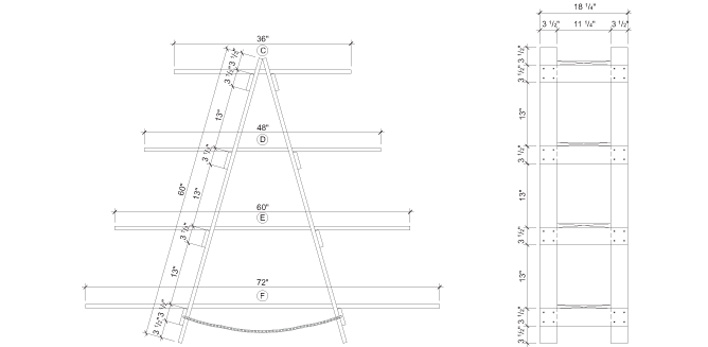 Build A Ladder Style Shelving Unit Construction Plans Rona