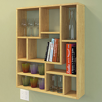 "Practical and economical, this shelf unit measures 31 ¾"" x 37 ¾"" x 7 ..."