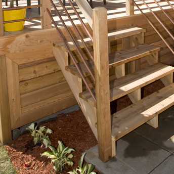 Building a deck requires a solid foundation.