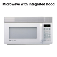 Microwave-integrated-kitchen-range hood