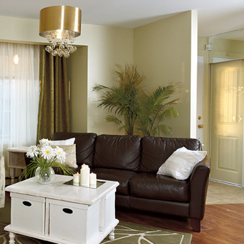 Interior walls can enhance design and add space.