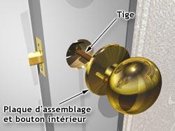 Installer Une Poignee Ou Une Serrure RONA - Poignee de porte ronde en bois