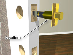 Insert the deadbolt into the lateral hole