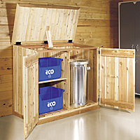 Garbage and recycling area storage solutions
