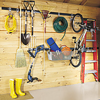 Garden tools area storage solutions