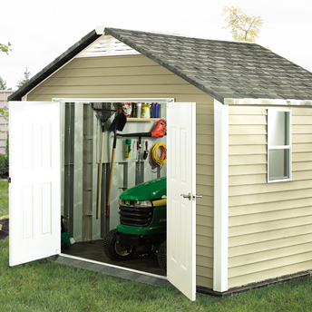 Garden tool shed to assemble