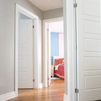 Build a doorframe and install an interior door slab