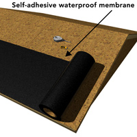 Self-adhesive membrane prevents leakage
