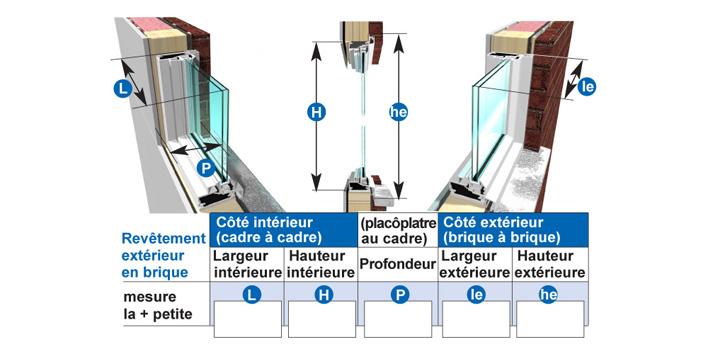 enlever les cadrages intérieurs mesurer l ouverture de votre fenêtre