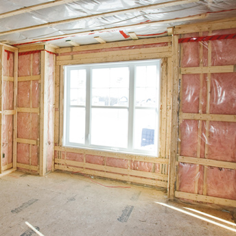 Window during house construction