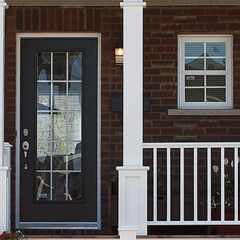 Glass exterior door