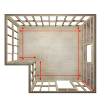 Measure the walls and ceilings to find how much drywall is needed