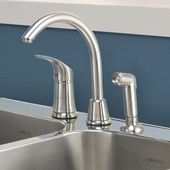 Installer un robinet sur l 39 vier de cuisine 1 rona for Robinet cuisine haut de gamme